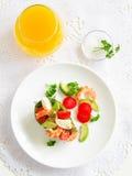 Avocado salad with shrimp Stock Photo