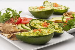 Avocado Salad Stuffed in an avocado Stock Image