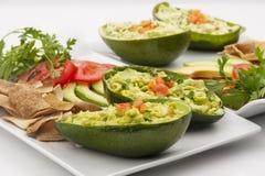 Avocado Salad Stuffed in an avocado Stock Image