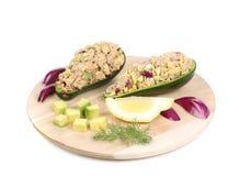 Avocado salad and tuna. Royalty Free Stock Images