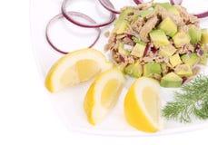 Avocado salad and tuna. Stock Images