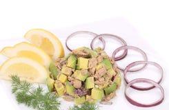 Avocado salad with tuna. Stock Photos