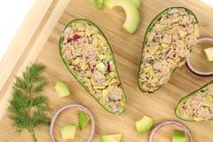 Avocado salad with tuna. Royalty Free Stock Photos