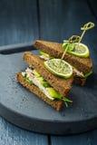 Avocado sandwich Stock Image