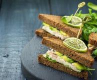 Avocado sandwich Royalty Free Stock Photo