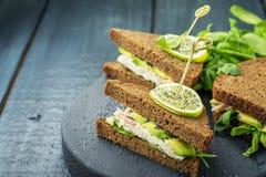 Avocado sandwich Stock Photography