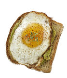 Avocado Sandwich With Fried Egg. Royalty Free Stock Photography