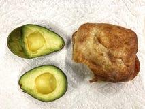 Avocado with sandwich Stock Photo