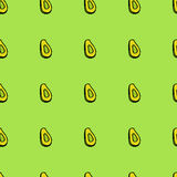 Avocado seamless pattern Royalty Free Stock Photos