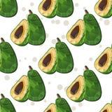Avocado seamless pattern Royalty Free Stock Photo