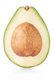 Avocado section on white, clipping path Stock Photo