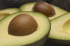 Avocado With Seed Royalty Free Stock Photography