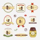 Avocado, set of label design Royalty Free Stock Photography