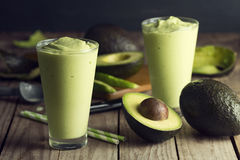 Avocado Shake Or Smoothie Stock Images