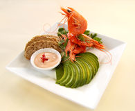 Avocado And Shrimp Royalty Free Stock Photo