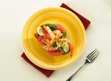 Avocado with shrimp and grapefruit Stock Image