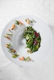 Avocado and shrimp salad Stock Photography