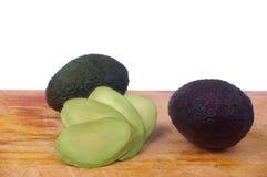 Avocado slice isolated Stock Images