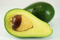 Avocado sliced. Isolated and closeup Royalty Free Stock Photography
