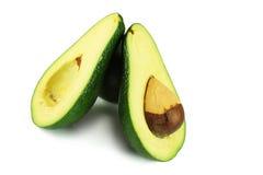 Avocado sliced. On a white background Stock Image