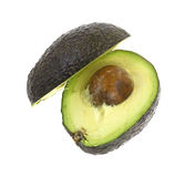 Avocado Sliced Half Seed Royalty Free Stock Photos