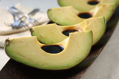 Avocado Slices with Balsamic Royalty Free Stock Images