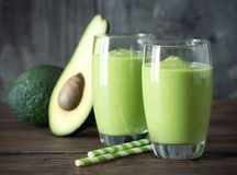 Avocado smoothie Stock Afbeeldingen