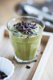 Avocado smoothie with Cacao nibs Stock Photos