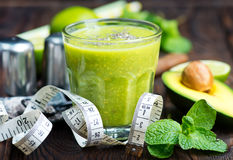 Avocado smoothie Stock Photos