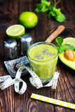 Avocado smoothie Stock Images