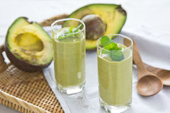 Avocado smoothie [Healthy drink ] Royalty Free Stock Photos