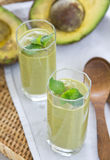 Avocado smoothie [Healthy drink ] Stock Image