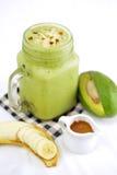 Avocado smoothie Stock Images