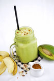 Avocado smoothie Royalty Free Stock Images