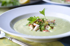 Avocado Soup Royalty Free Stock Photography