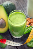 Avocado and  spinach smoothie Royalty Free Stock Photography