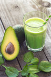 Avocado and  spinach smoothie Stock Photo