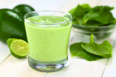 Avocado and Spinach Smoothie Royalty Free Stock Images