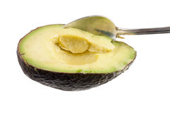 Avocado spoon Stock Photography