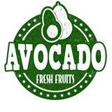 Avocado stamp Stock Photography