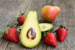 Avocado and strawberries Royalty Free Stock Images