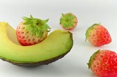 Avocado and strawberry  Stock Photo