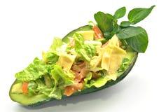 Avocado stuffed Stock Photo