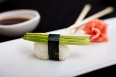 Avocado sushi Royalty Free Stock Image
