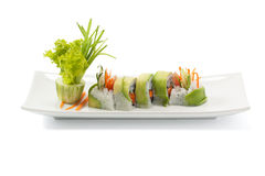 Avocado sushi Stock Photography