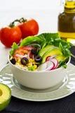 Avocado and sweetcorn salad Stock Image