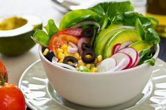 Avocado and sweetcorn salad Stock Images