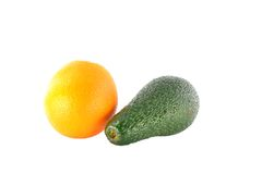 Avocado and tangerine Stock Photo