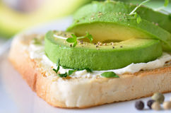 Avocado on toast Royalty Free Stock Image
