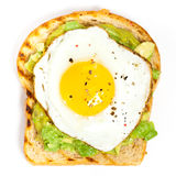 Avocado Toast with Fried Egg Stock Image